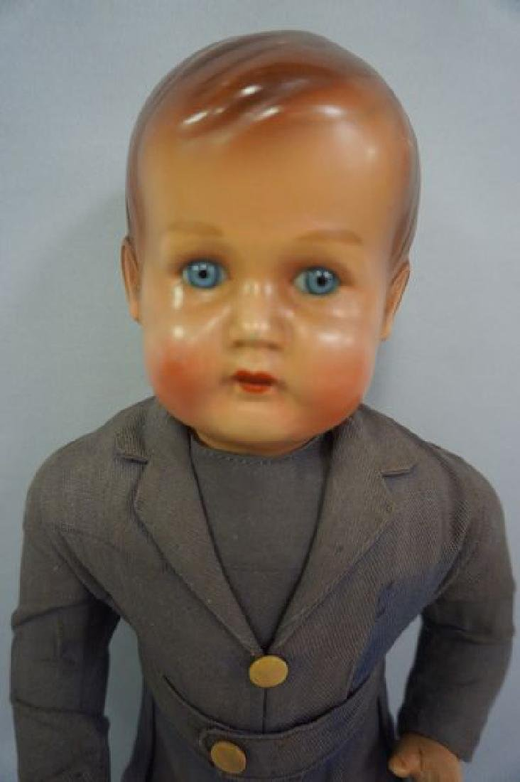 17 1/2 INCH POTTERY HEAD DOLL, - 2