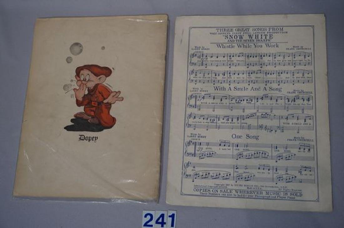 LOT OF (4) 9 INCH ALL COMPO WALT DISNEY - 6