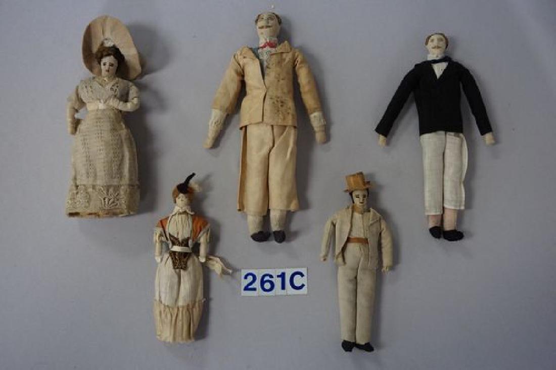 LOT OF (5) EARLY 1900'S FOLKART/HANDMADE