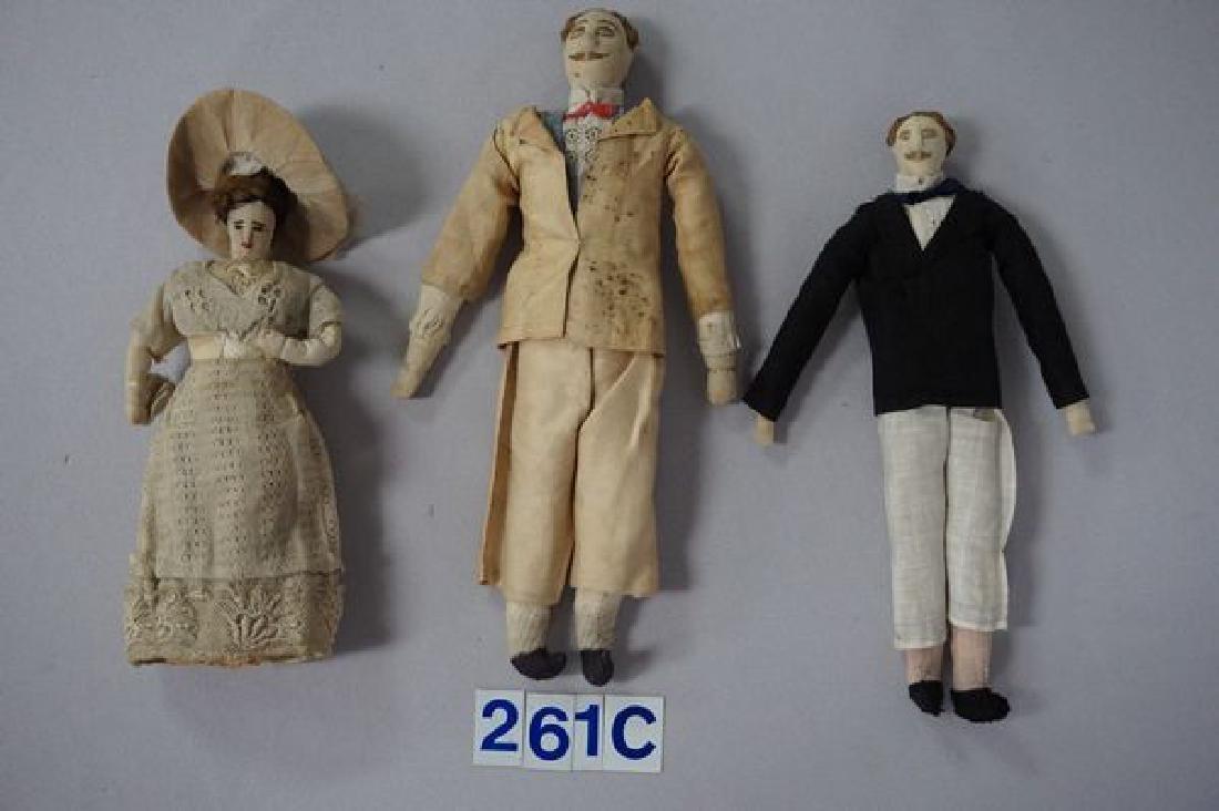 LOT OF (5) EARLY 1900'S FOLKART/HANDMADE - 2