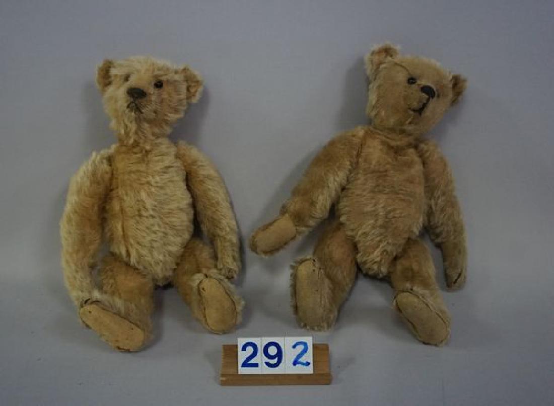 (2) ANTIQUE TEDDY BEARS: