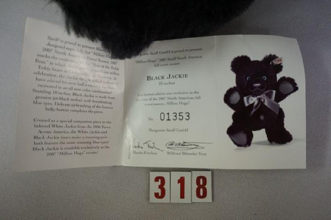 STEIFF BLACK 'JACKIE' BEAR - 4