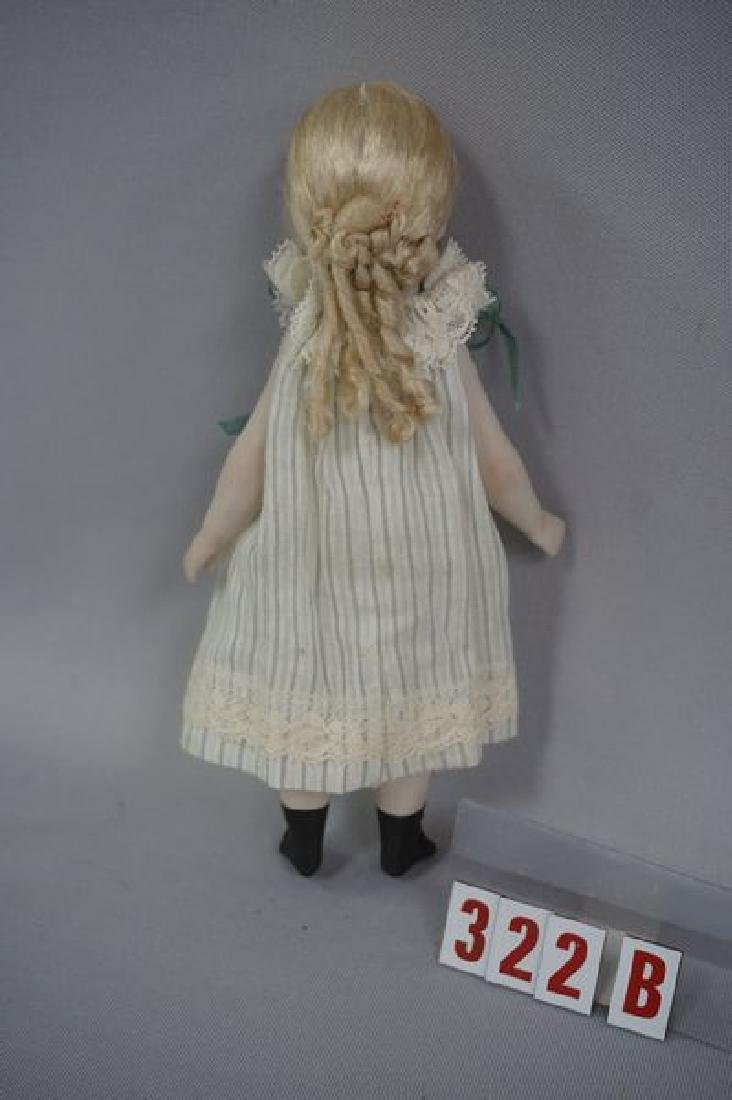 7 INCH ALL BISQUE ARTIST DOLL - 3