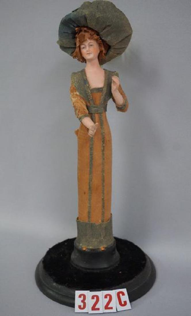 8 INCH ALL BISQUE FIGURAL LADY,