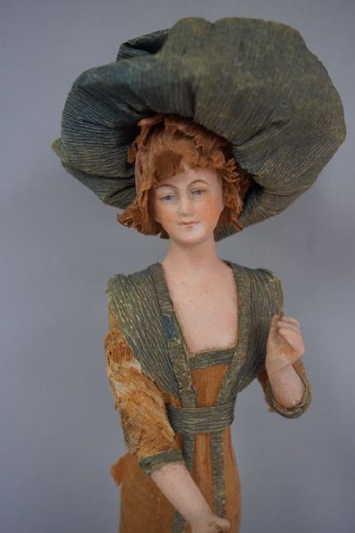 8 INCH ALL BISQUE FIGURAL LADY, - 2