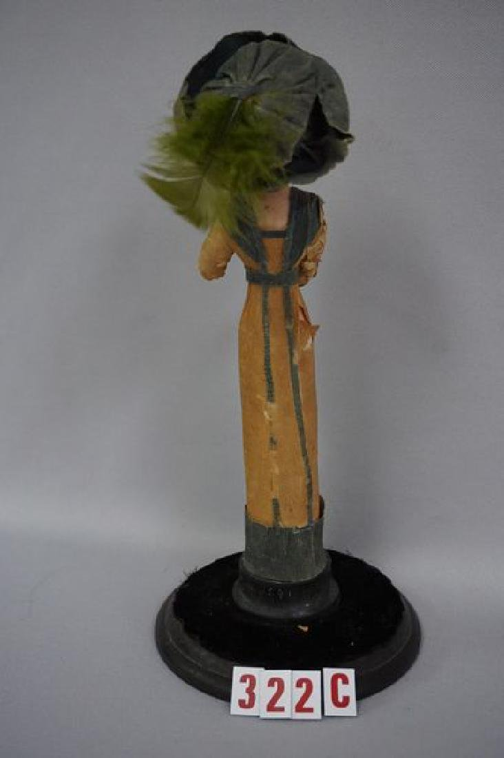 8 INCH ALL BISQUE FIGURAL LADY, - 4