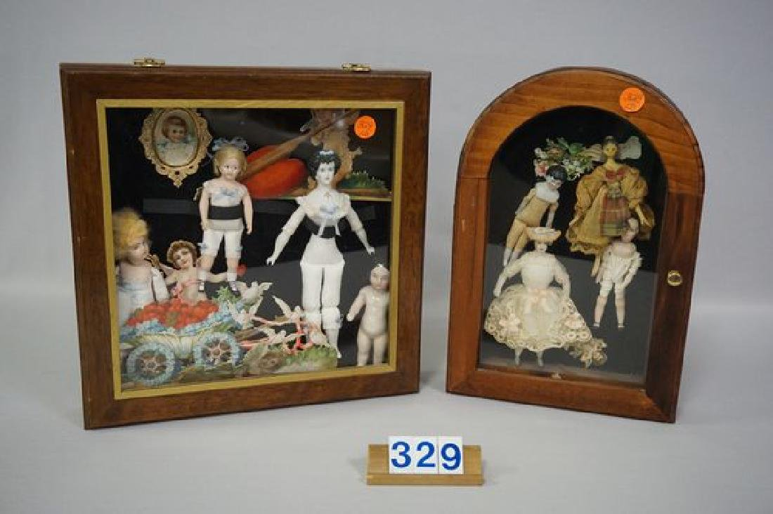 (2) WALL HUNG DISPLAY CASES