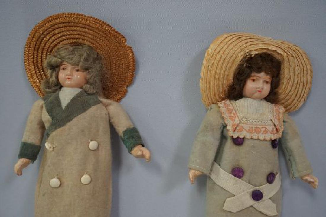 (2) 8 1/2 INCH EARLY CELLULOID HEAD DOLLS - 2