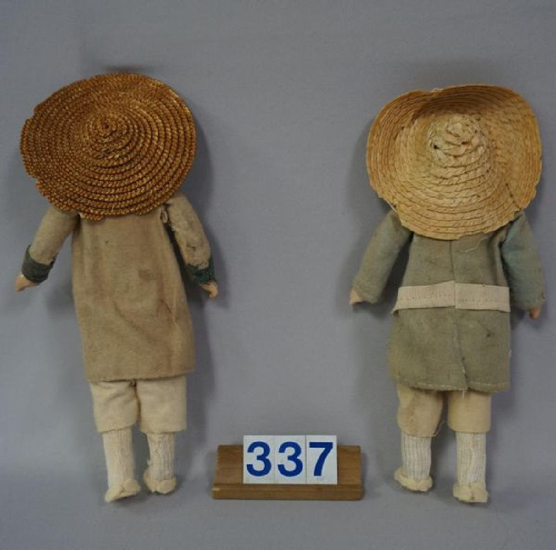 (2) 8 1/2 INCH EARLY CELLULOID HEAD DOLLS - 4