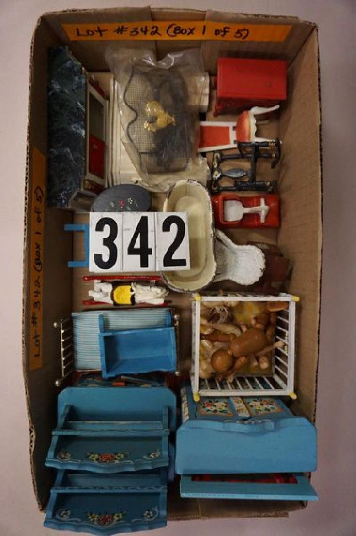 (5 BOXES) ASSORTED DOLLHOUSE MINIATURES: - 4