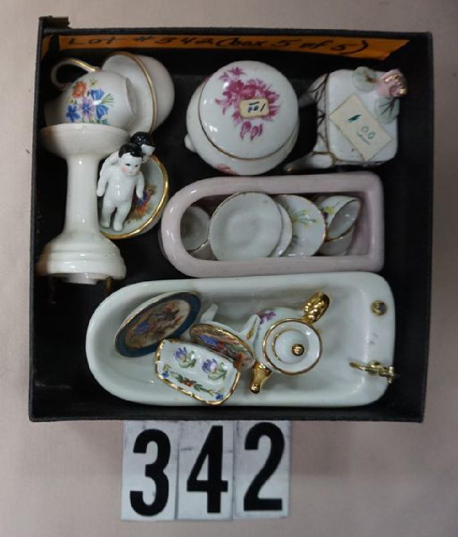 (5 BOXES) ASSORTED DOLLHOUSE MINIATURES: - 5