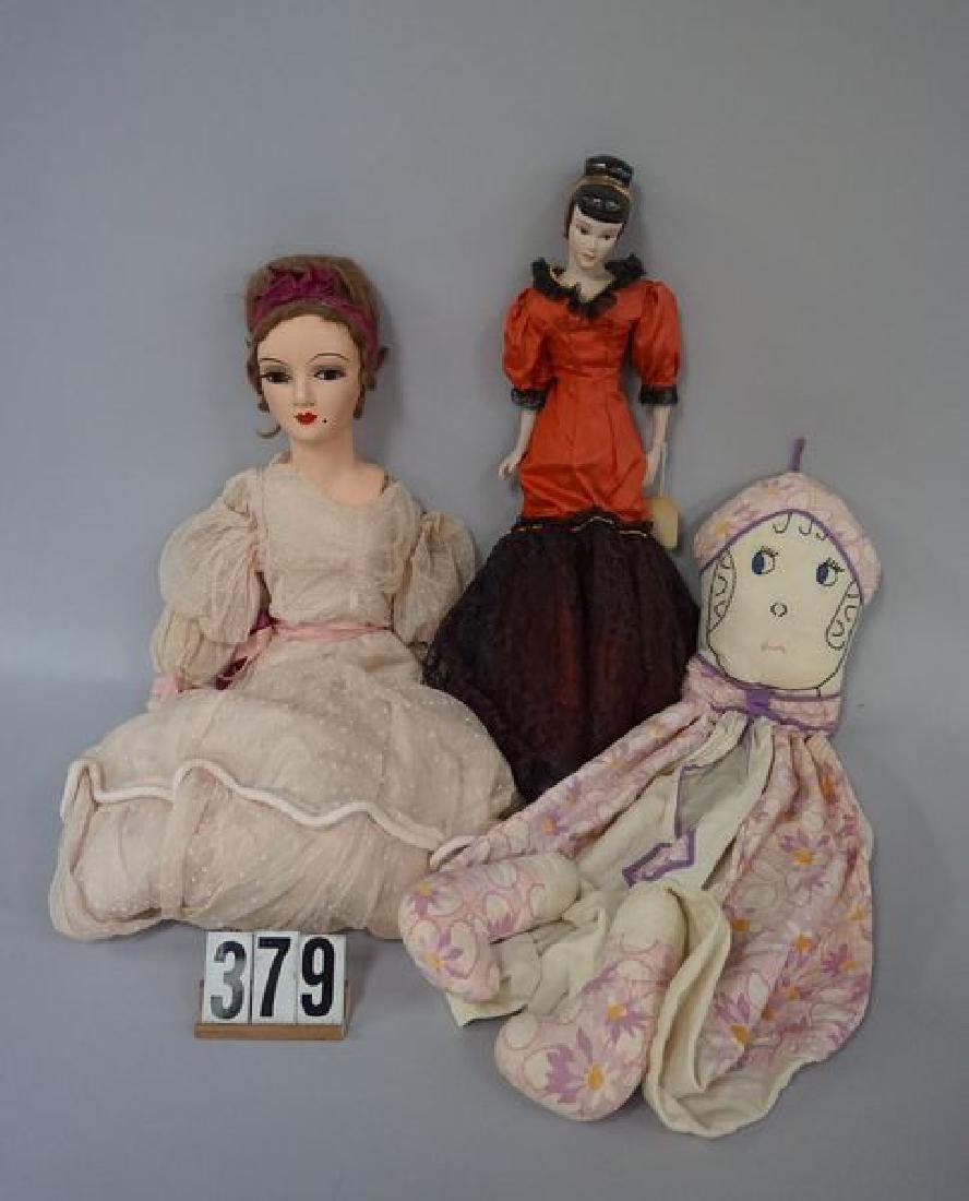 GRAB BOX: 31 INCH COMPO & CLOTH BED DOLL, - 2