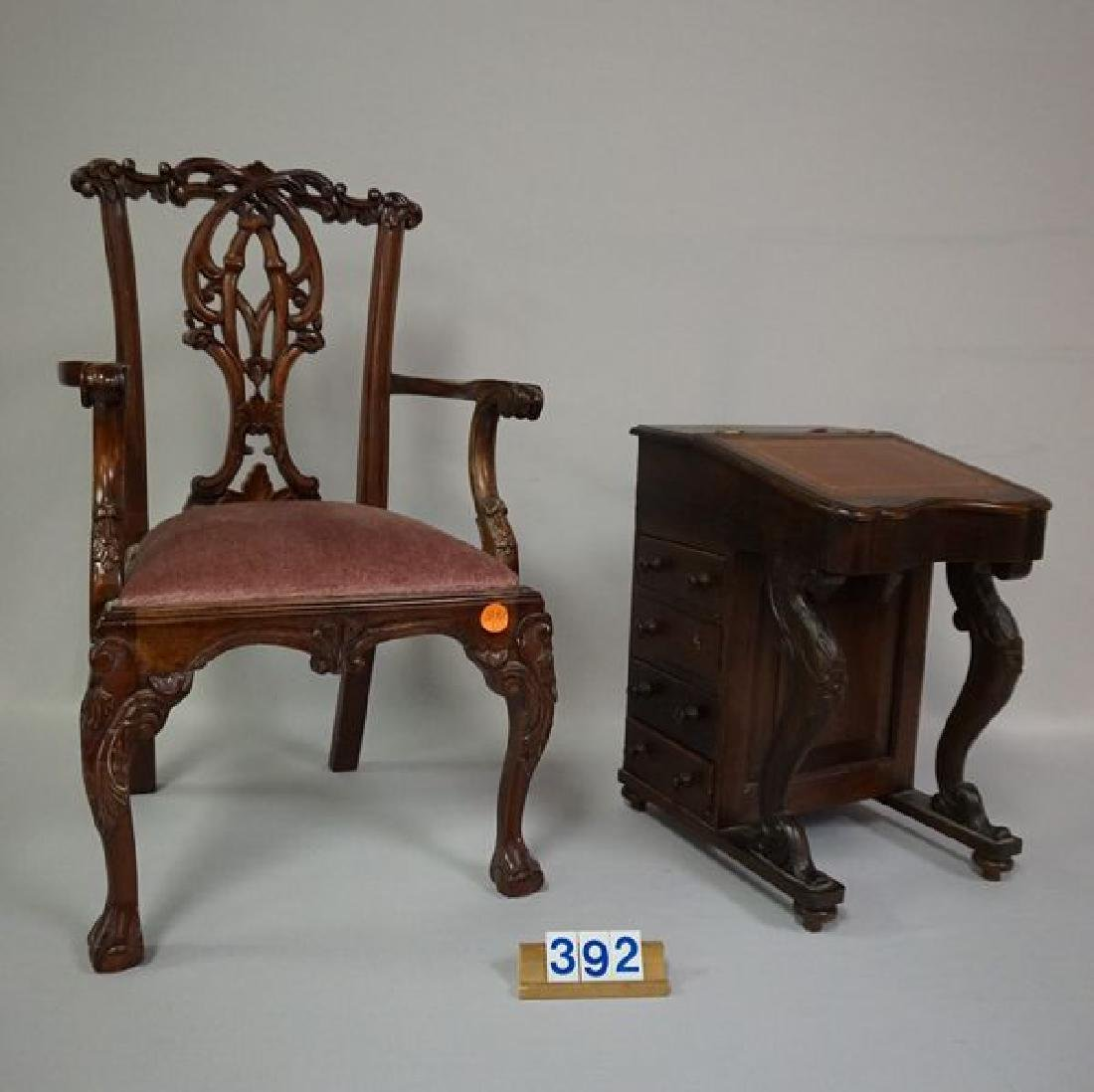 (2 PIECES) DOLL FURNITURE (NOT ANTIQUE):