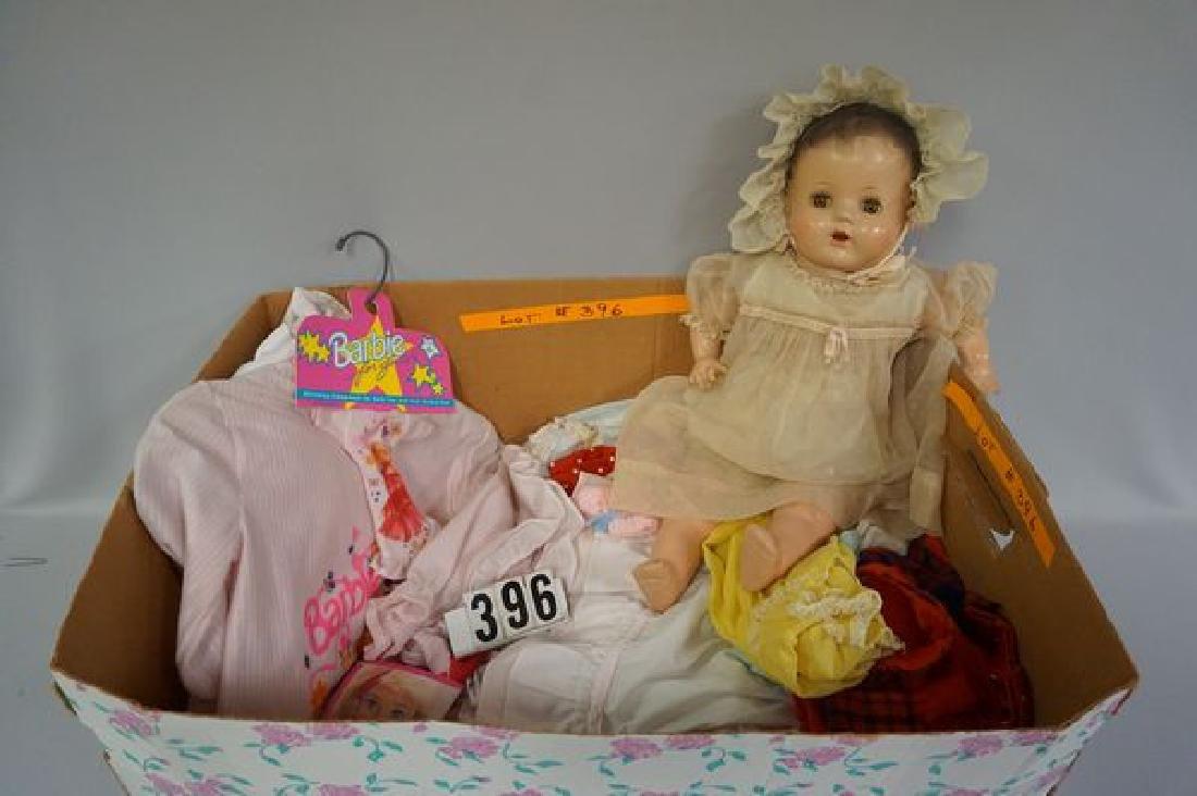 22 INCH COMPO & CLOTH BABY