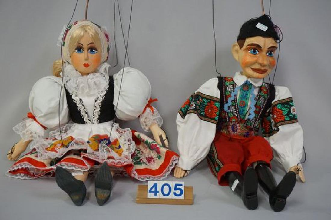 PAIR OF WOODEN MARIONETTES