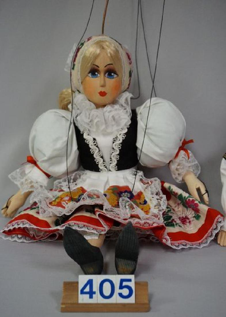PAIR OF WOODEN MARIONETTES - 3