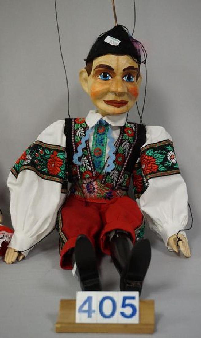 PAIR OF WOODEN MARIONETTES - 4