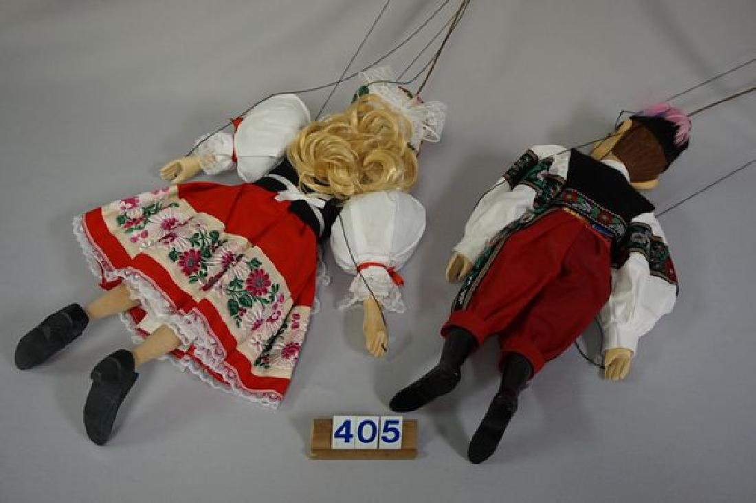 PAIR OF WOODEN MARIONETTES - 7