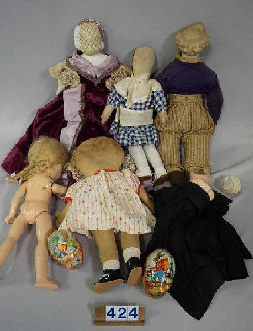 BOX LOT OF (AS-IS) DOLLS, ETC.: - 6