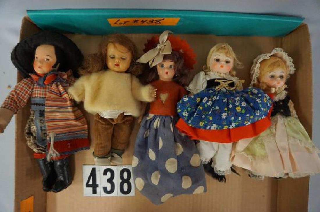 GRAB BOX WITH (12) ASSORTED DOLLS: - 2