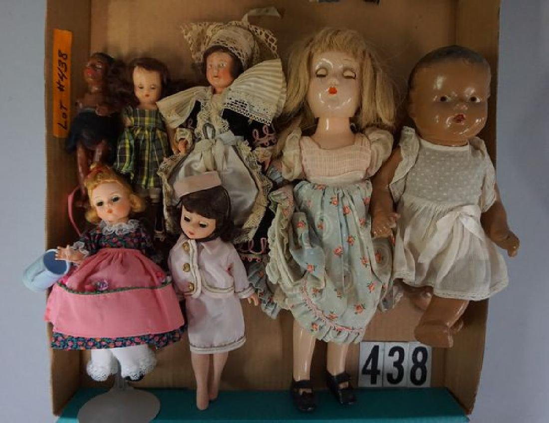 GRAB BOX WITH (12) ASSORTED DOLLS: - 3