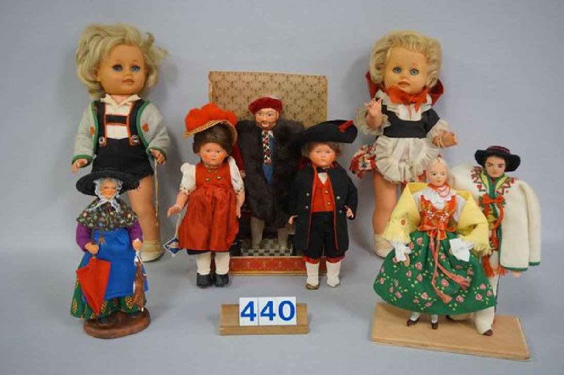 BOX LOT OF FOREIGN DOLLS