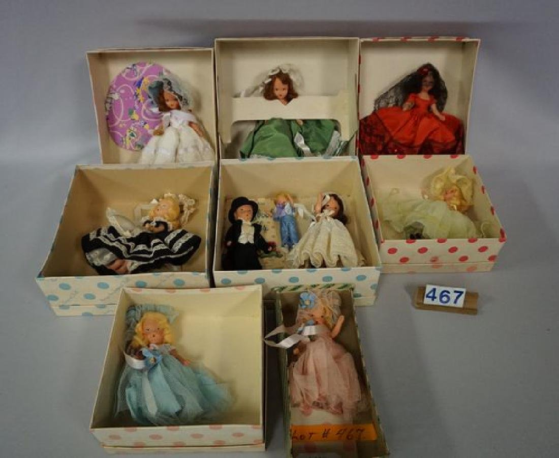 LOT OF NANCY ANN PAINTED BISQUE STORY