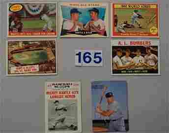 MICKEY MANTLE (7 CARD ODDBALL LOT)