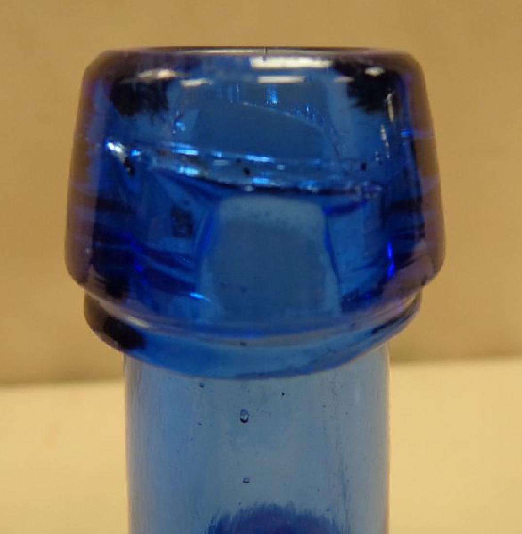 ANTIQUE COBALT BLUE SQUAT SODA BOTTLE - 3