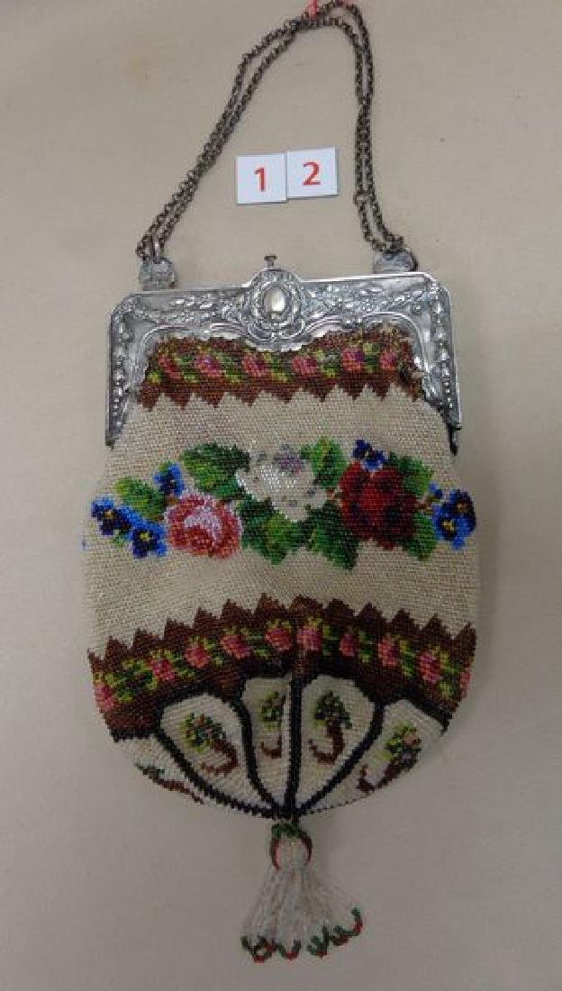 ANTIQUE BEADED PURSE - 2