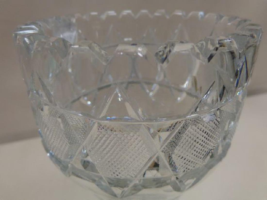 (4) ASSORTED CUT GLASS VASES: - 2