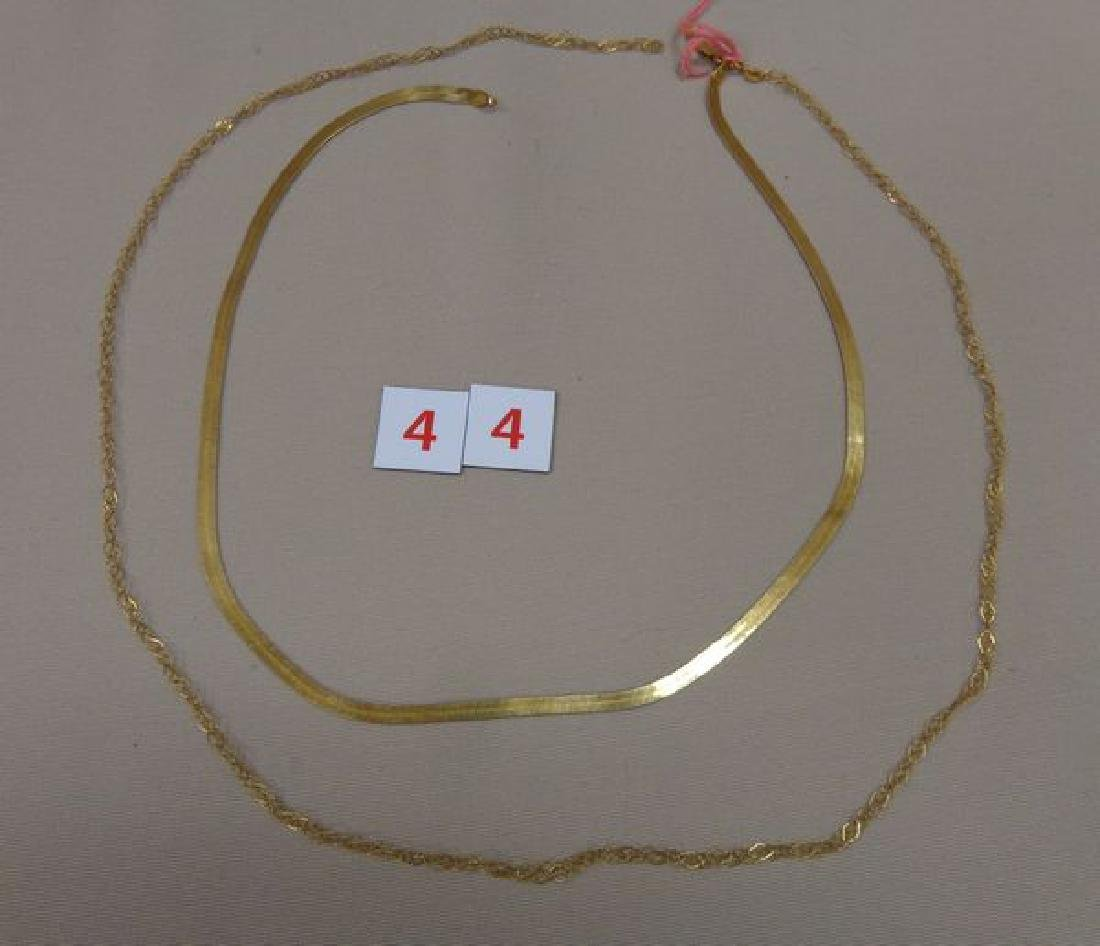 14 KT. GOLD 20 INCH HERRINGBONE NECKLACE