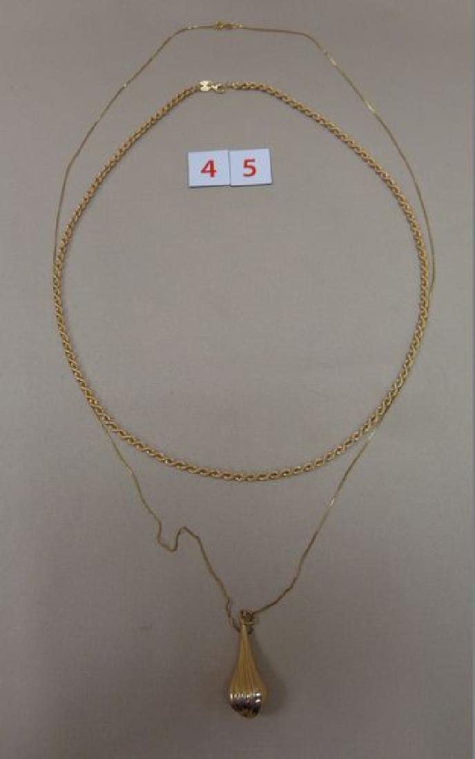 14 KT. GOLD 24 INCH TWISTED ROPE