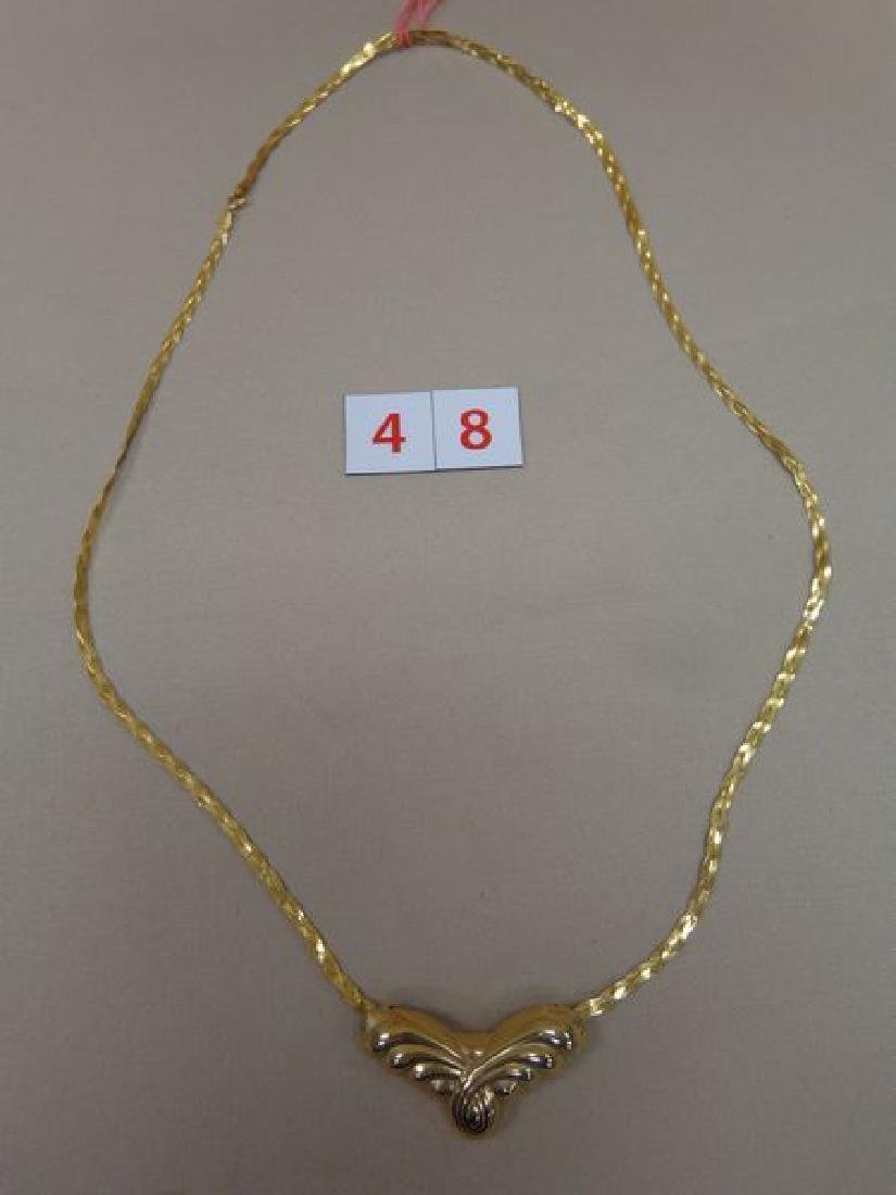14 KT. GOLD 26 INCH BRAIDED NECKLACE