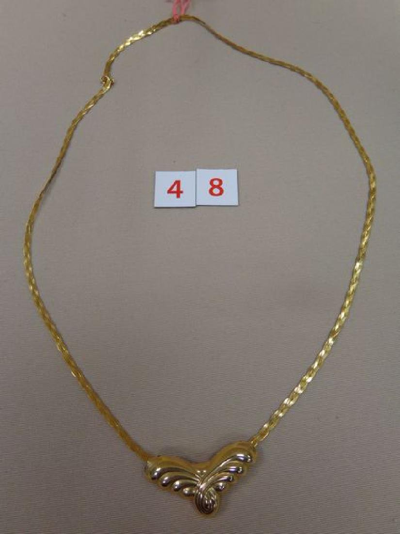 14 KT. GOLD 26 INCH BRAIDED NECKLACE - 2