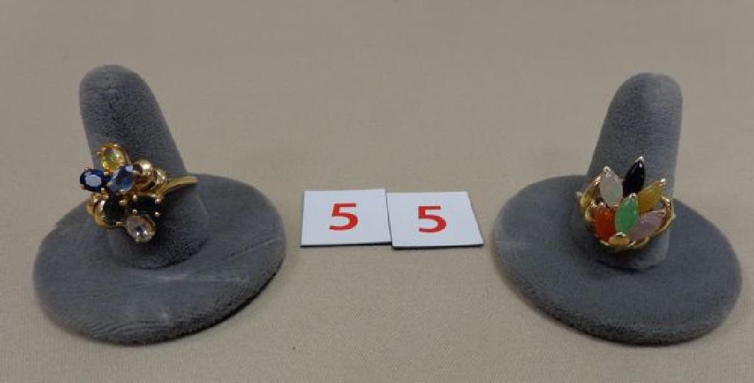 (2) LADIES 14 KT. GOLD RINGS