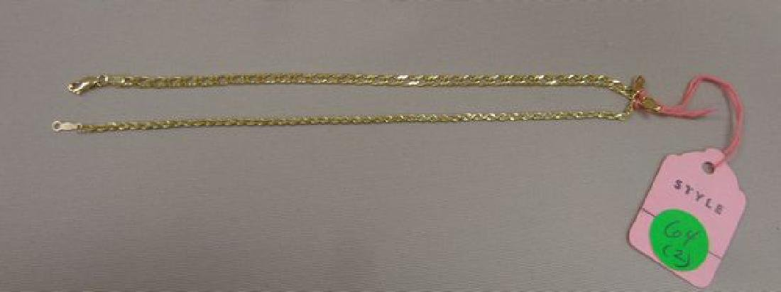 (2) 14 KT. GOLD 8 INCH BRACELETS