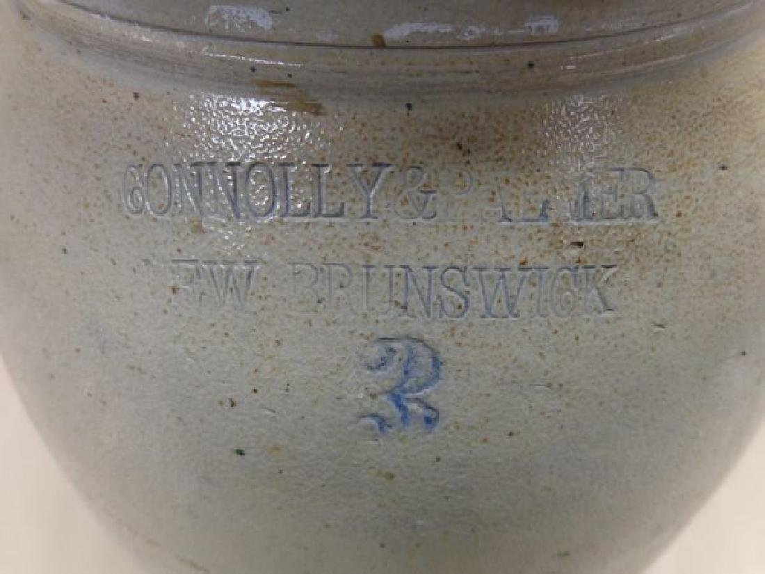 THREE GALLON ANTIQUE STONEWARE CROCK - 6