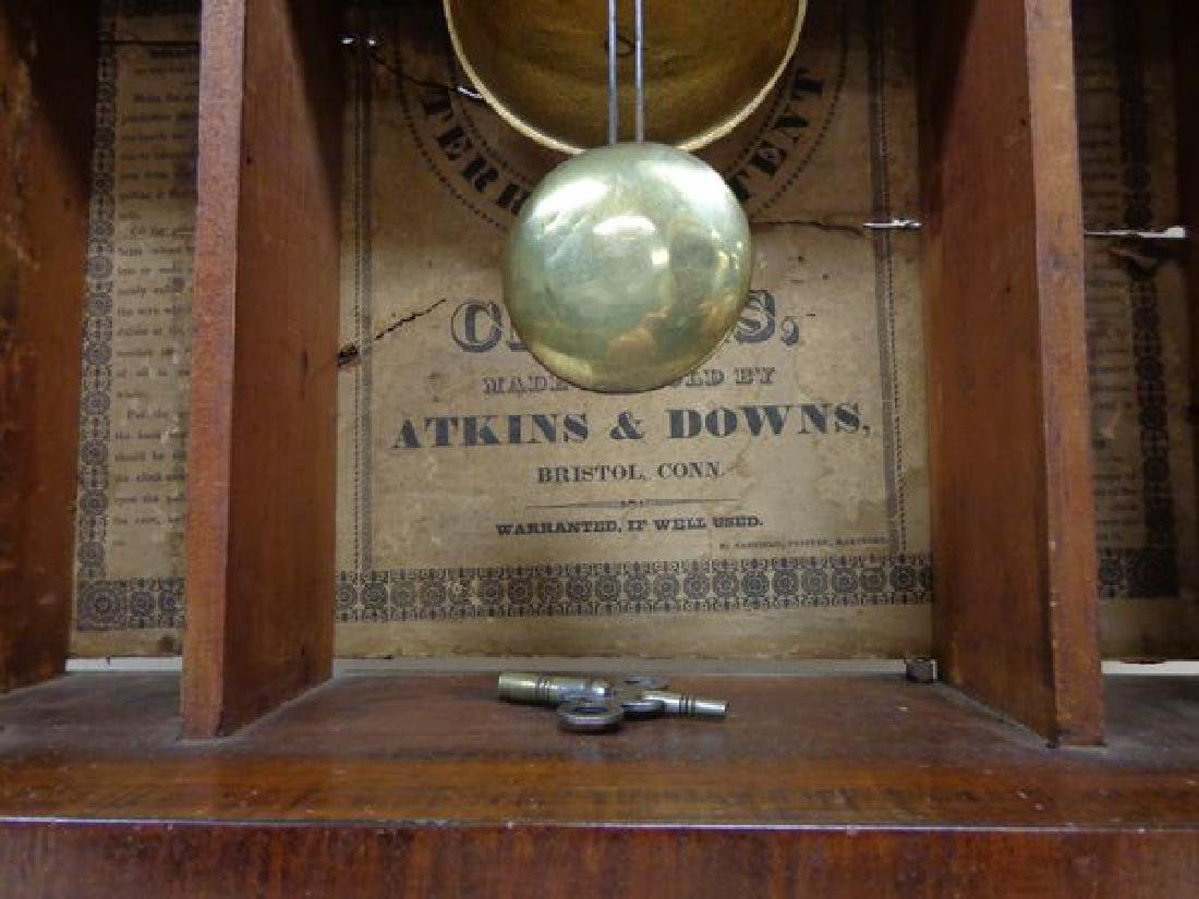 EARLY (1832) ATKINS & DOWNS  SHELF CLOCK - 4