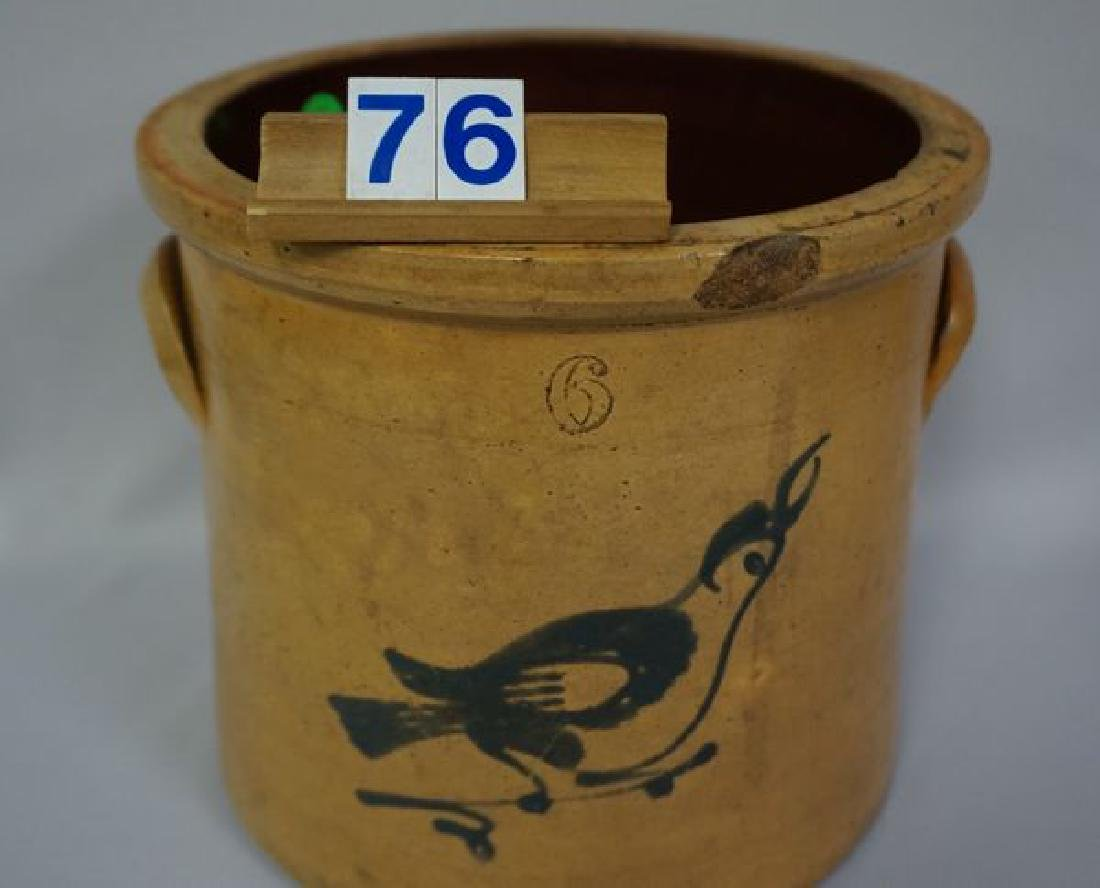 STONEWARE CROCK WITH COBALT BLUE - 2