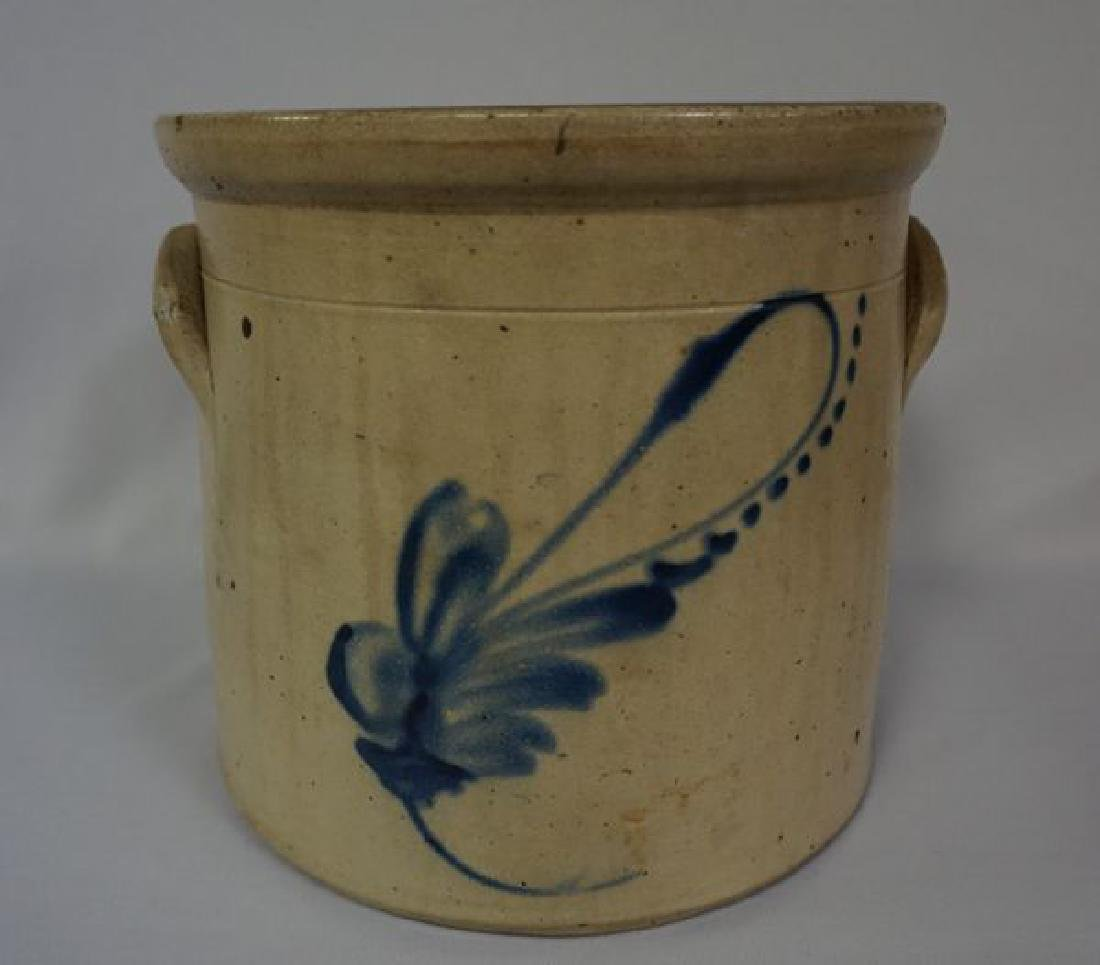 TWO GALLON STONEWARE CROCK WITH HANDLES
