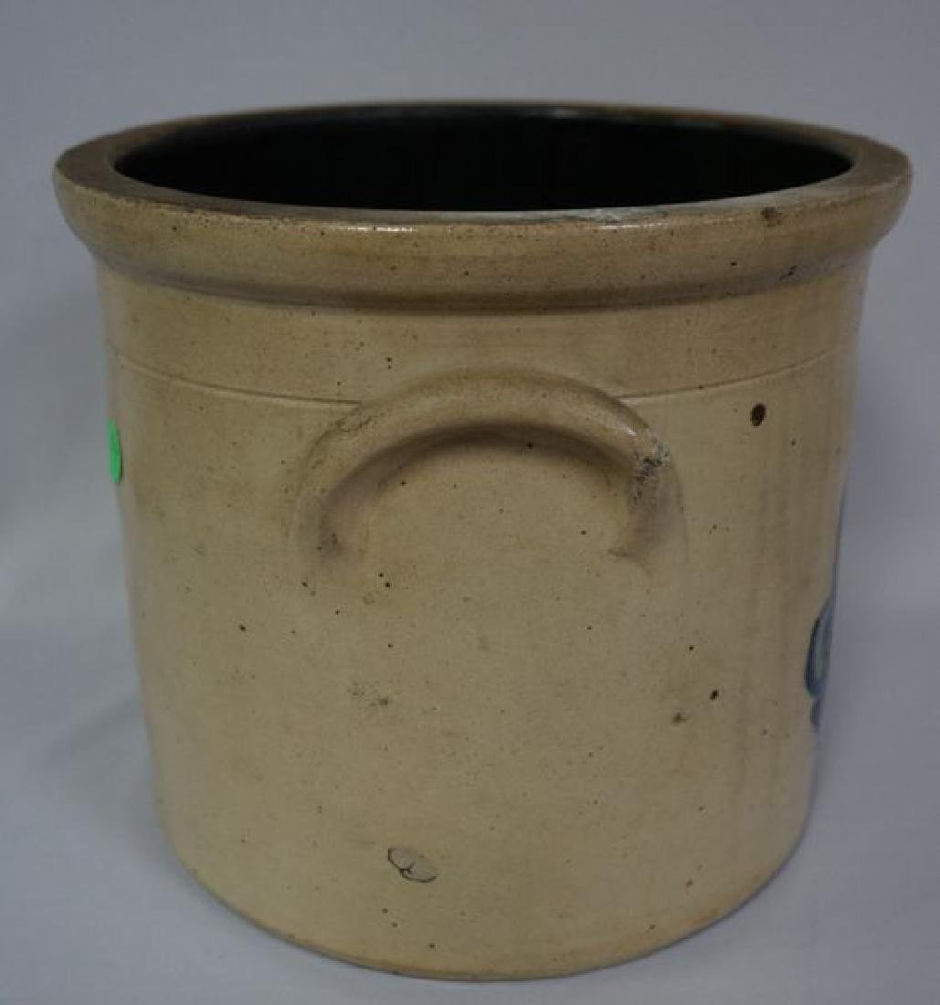 TWO GALLON STONEWARE CROCK WITH HANDLES - 5