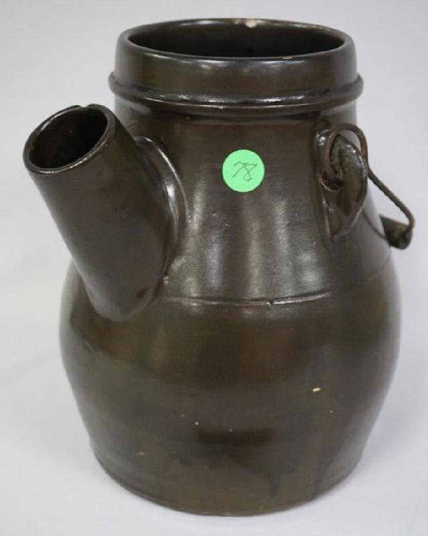 STONEWARE BATTER JUG WITH WIRE BALE
