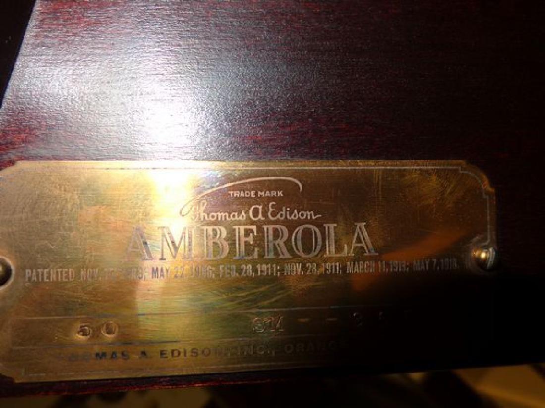 """ANTIQUE THOMAS EDISON """"AMBEROLA"""" - 4"""