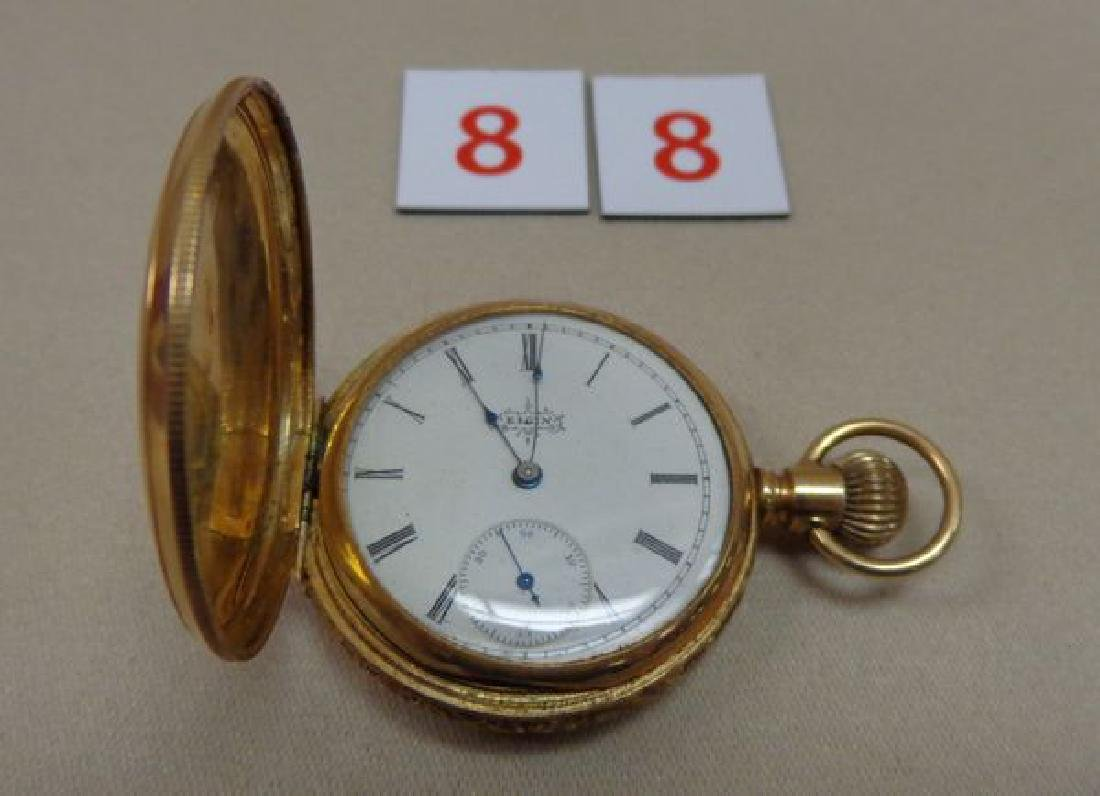 14 KT. GOLD ELGIN POCKET WATCH - 2