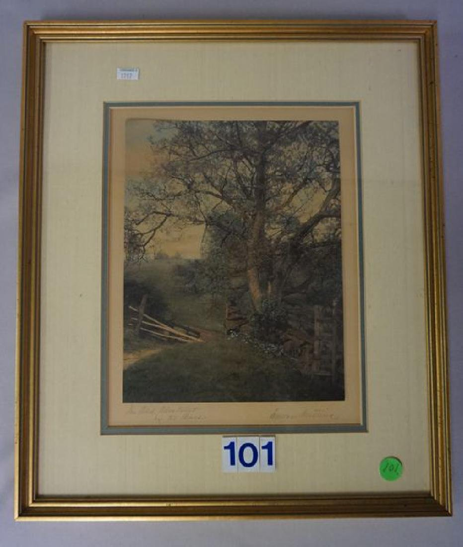 WALLACE NUTTING FRAMED & MATTED PRINT