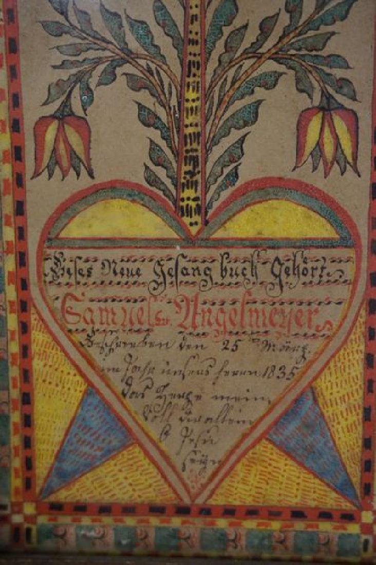 SMALL FRAMED FRAKTUR DATED 1835 - 2
