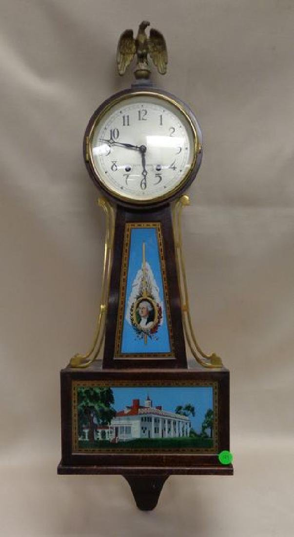 SETH THOMAS MAHOGANY BANJO CLOCK