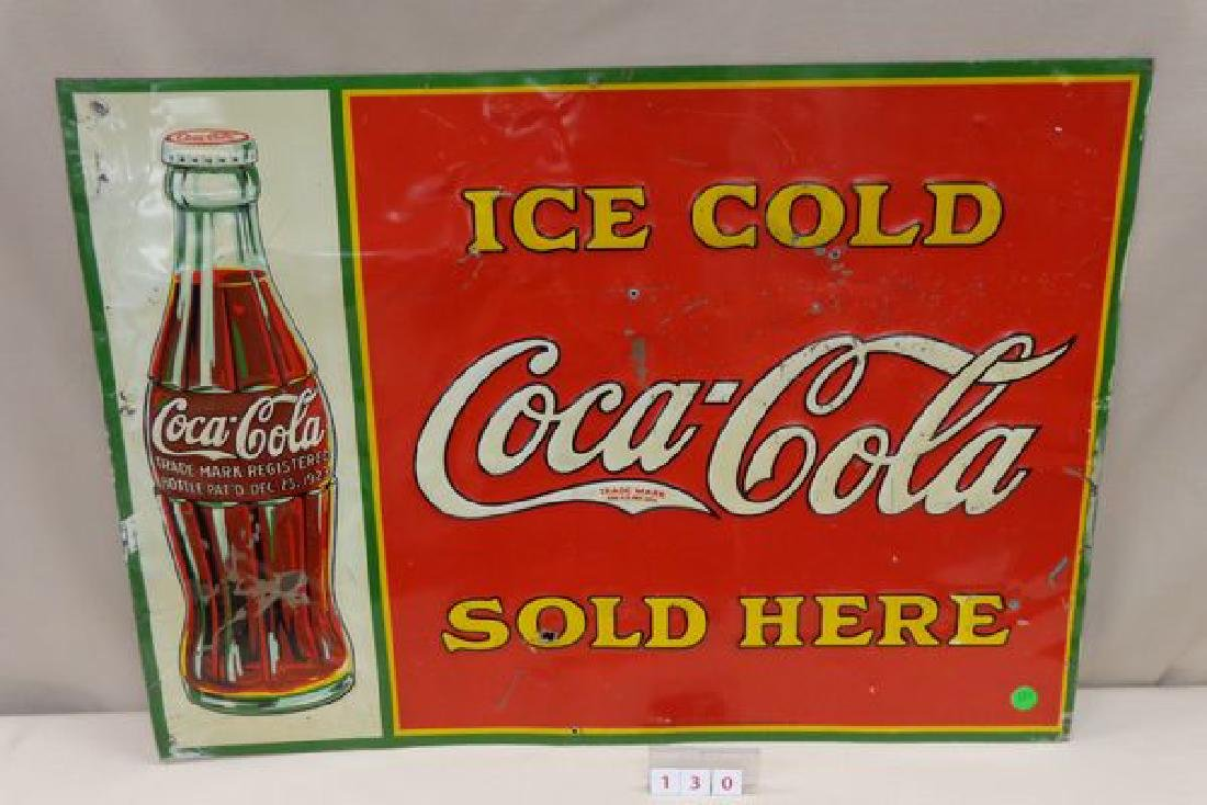 COCA-COLA TIN SIGN, 1930'S,