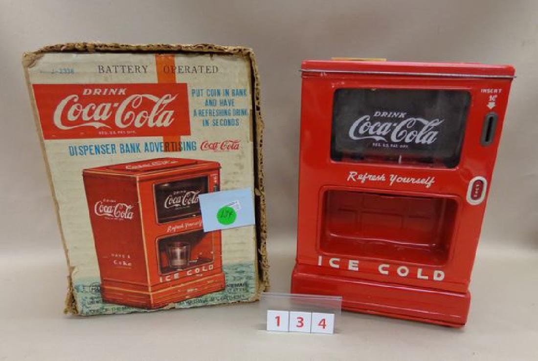 COCA-COLA BATTERY OPERATED ADVERTISING